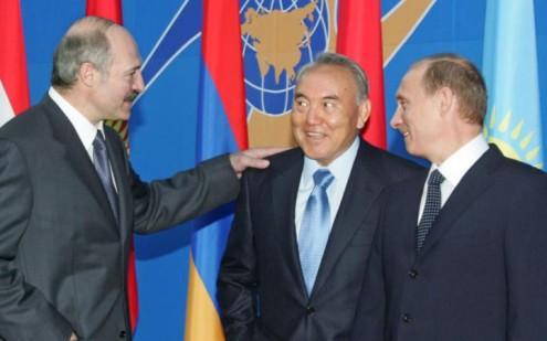 Александр Лукашенко, Нурсултан Назарбаев, Владимир Путин