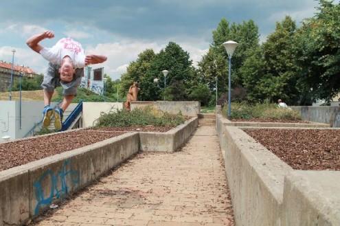 Много ребят тренируется недалеко от станции метро Vltavská