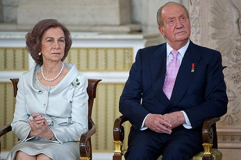 Испанский король Хуан Карлос I с королевой Софией