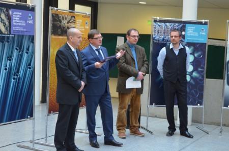 Слева: Антонин Мургаш (ALTA), Александр Уржанов (TVEL), Ондржей Мразек(переводчик) и Радек Шкода (FS ČVUT).