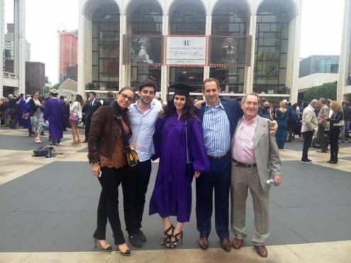 Александр Половец и его семья:  сын Стен, жена сына Ирина, внук Давид, внучка Даниэла