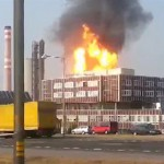 Пожар на химзаводе