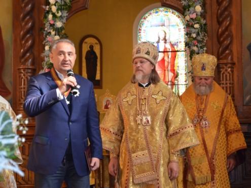 Архиепископ Марк вручил орден меценату Леониду Краснянскому