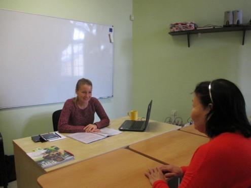Встреча читателей ПТ с социальным работником