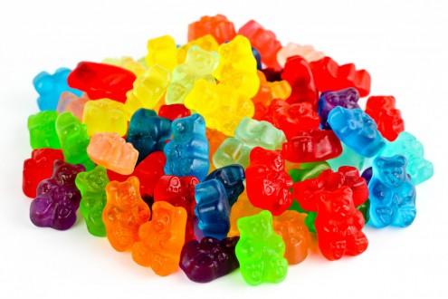 В желатиновых конфетах больше сахара, чем коллагена