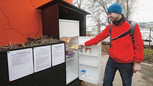 В Праге появился общественный холодильник