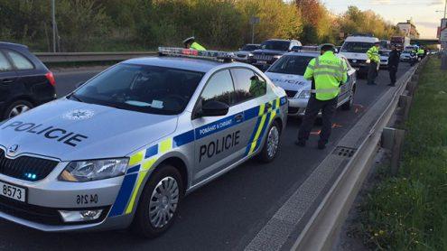 В пражском районе столкнулись три полицейских автомобиля