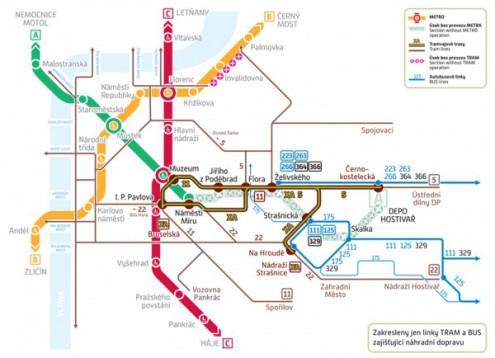 В выходные дни частично не будет работать пражское метро