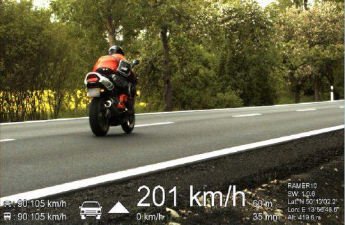 Чешские полицейские устроили погоню за мотоциклистом