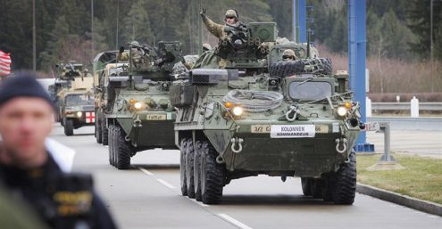 Военная техника США проедет через Чехию