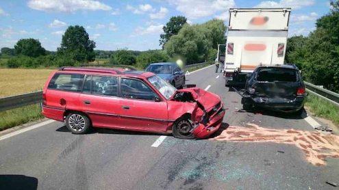 На чешской дороге I/54 произошло три аварии подряд