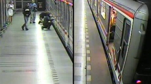 Полиция ищет хулиганов, которые разрисовали вагон метро