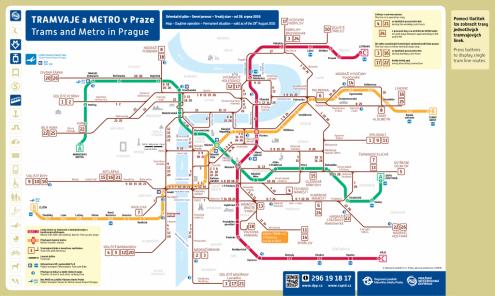 Трамваи в Праге изменили свои маршруты