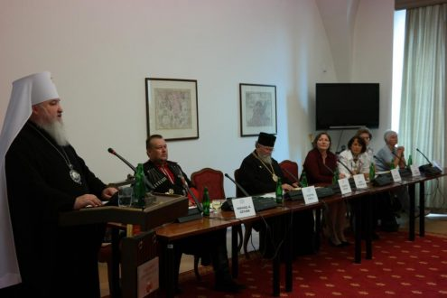 Выступление председателя Синодального комитета по взаимодействию с казачеством митрополита Ставропольского и Невинномысского Кирилла