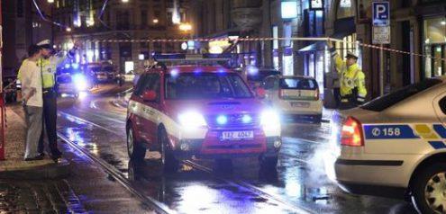 В центре Праги было остановлено движение трамваев