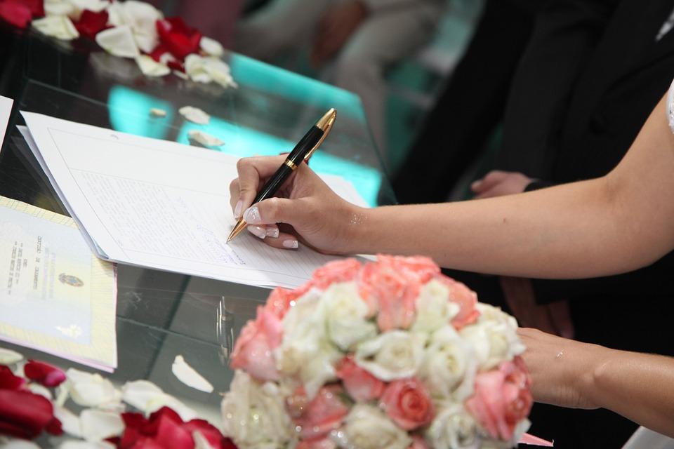 Свадьба под строчки брачного договора