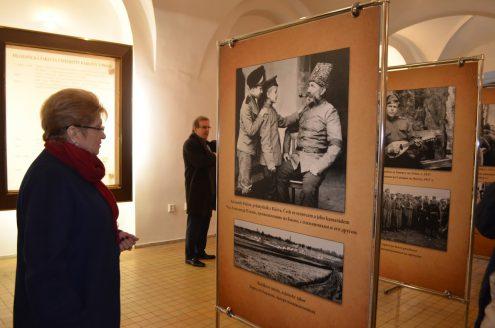 Выставка фотографий и экспонатов, предоставленных городским музеем г. Яромнерж