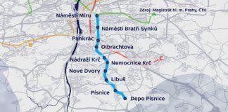 Синяя ветка метро - Пражский Телеграф