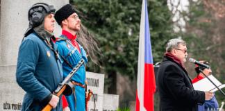 Церемония забора земли и открытия отремонтированной центральной стелы на почётном захоронении красноармейцев прошла в г.Оржехов Чешской Республики - Пражский Телеграф