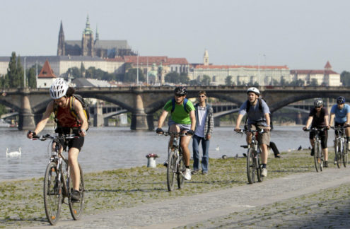 Велосипедисты в Праге