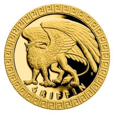 Чешский монетный двор отчеканил третью монету новой серии «Мифические существа», на которой изображён Грифон