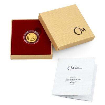 Чешский монетный двор отчеканил третью монету новой серии «Мифические существа», на которой изображён Грифон.
